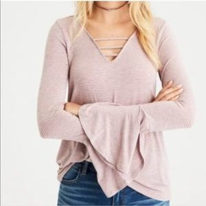 AEO Soft and Sexy Bell sleeve Tunic Top